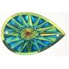 Celestial Sew-on Stone 10pcs Drop 20x30mm Green Aurora Borealis